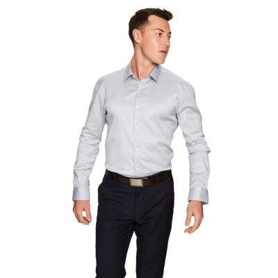 Fashion 4 Men - yd. Axton Slim Fit Dress Shirt Pearl Blue S