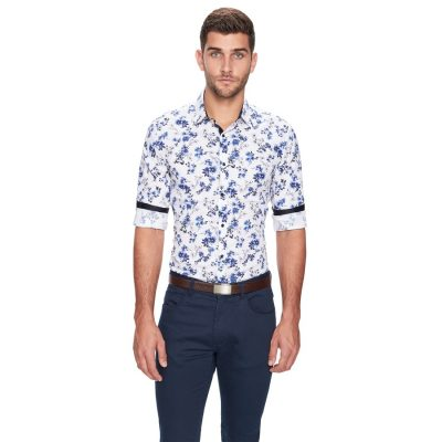 Fashion 4 Men - yd. Botany Slim Fit Shirt Blue M