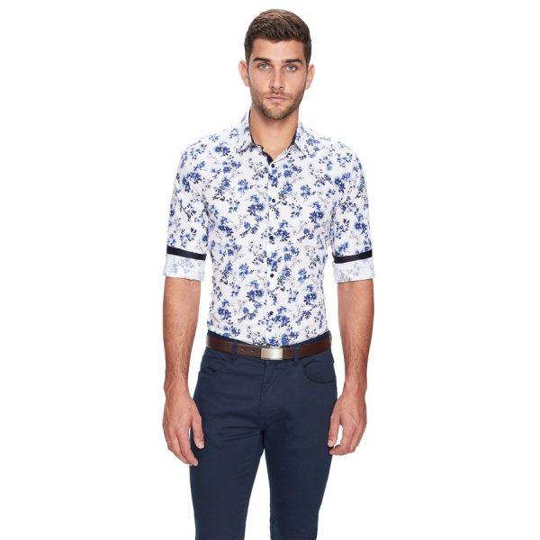 Fashion 4 Men - yd. Botany Slim Fit Shirt Blue Xl