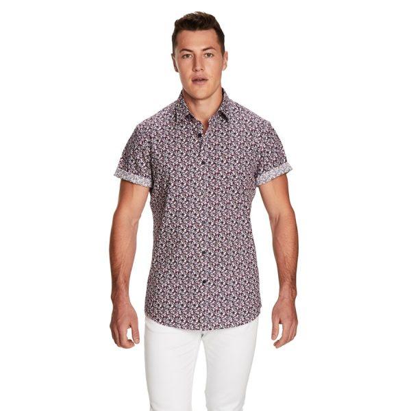 Fashion 4 Men - yd. Dakota Ss Shirt Blue M