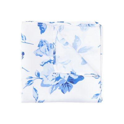 Fashion 4 Men - yd. Fresh Floral Pocket Square Blue One