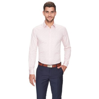 Fashion 4 Men - yd. Hayes Slim Fit Dress Shirt Pink L