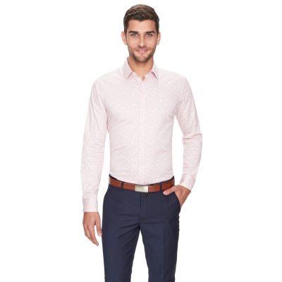 Fashion 4 Men - yd. Hayes Slim Fit Dress Shirt Pink Xl