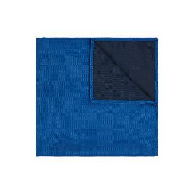 Fashion 4 Men - yd. Herringbone Pocket Square Cobalt One