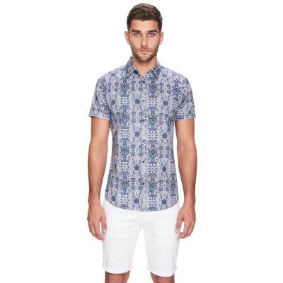 Fashion 4 Men - yd. Kona Ss Shirt Blue 2 Xs
