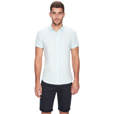 Fashion 4 Men - yd. Louis Linen Ss Shirt Mint S