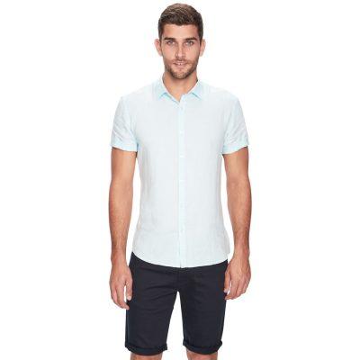 Fashion 4 Men - yd. Louis Linen Ss Shirt Mint Xl
