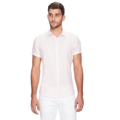 Fashion 4 Men - yd. Louis Linen Ss Shirt Peach S