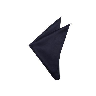 Fashion 4 Men - yd. Matte Satin Pocket Square Navy One