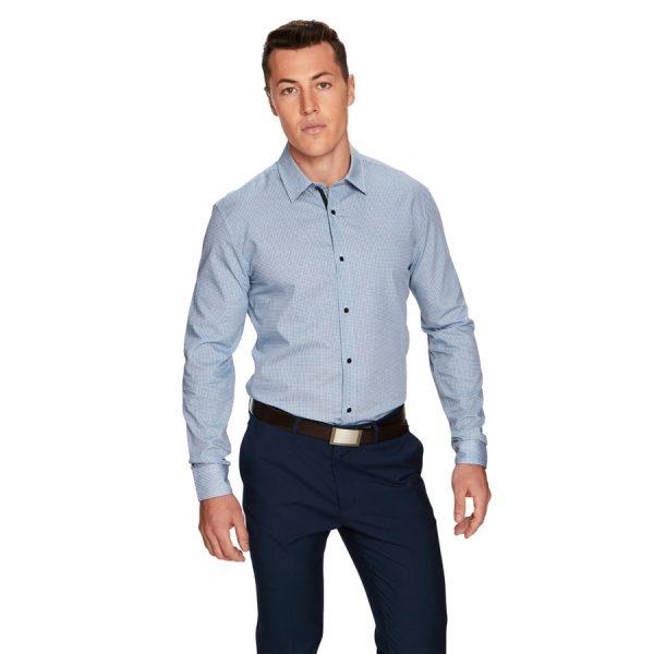 Fashion 4 Men - yd. Morgan Slim Fit Dress Shirt Blue M