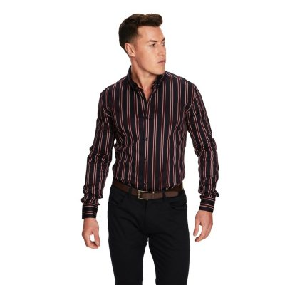 Fashion 4 Men - yd. Orlando Stripe Shirt Dark Blue L