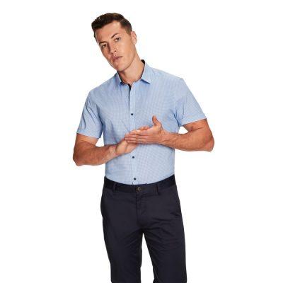 Fashion 4 Men - yd. Rocky Ss Shirt Blue 2 Xs