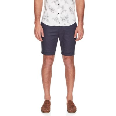 Fashion 4 Men - yd. Santorini Linen Short Navy 28