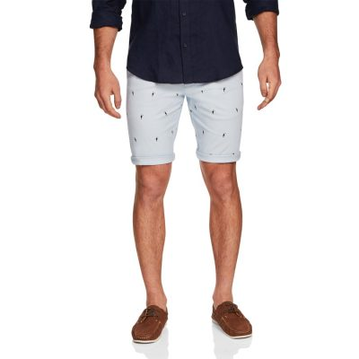 Fashion 4 Men - yd. Shore Printed Short Light Blue 32