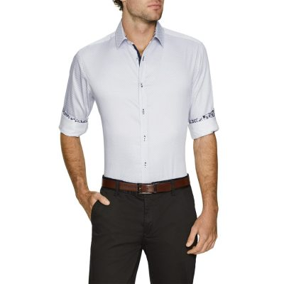 Fashion 4 Men - Tarocash Dice Print Shirt White 4 Xl
