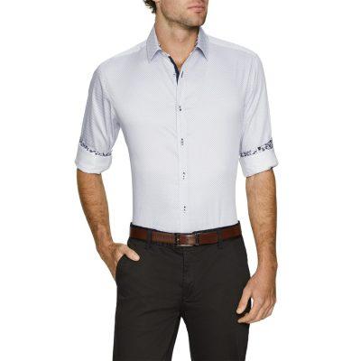 Fashion 4 Men - Tarocash Dice Print Shirt White Xl