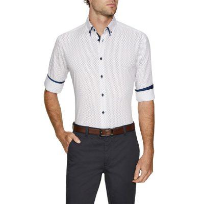 Fashion 4 Men - Tarocash Garfield Print Shirt White M