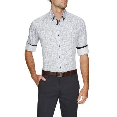 Fashion 4 Men - Tarocash Lane Floral Print Shirt White Xxl