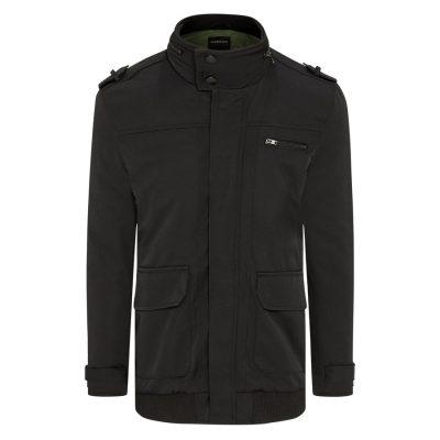 Fashion 4 Men - Tarocash Lyon Textured Zip Thru Jacket Black L