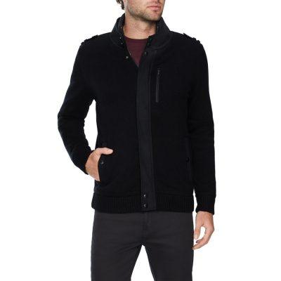 Fashion 4 Men - Tarocash Oliver Knitted Jacket Black Xxxl