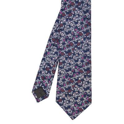 Fashion 4 Men - Tarocash Savile Silk Floral Tie Navy 1
