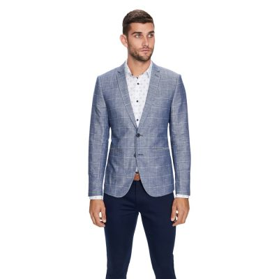 Fashion 4 Men - yd. Bellagio Linen Blazer Blue Xs