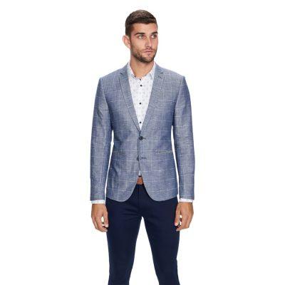 Fashion 4 Men - yd. Bellagio Linen Blazer Blue Xxxl