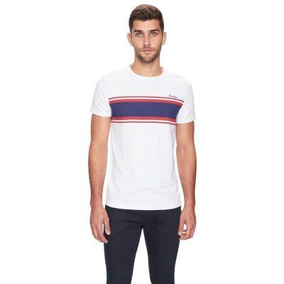 Fashion 4 Men - yd. Brooklyn Stripe Ss Tee White S