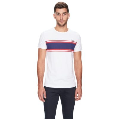 Fashion 4 Men - yd. Brooklyn Stripe Ss Tee White Xs