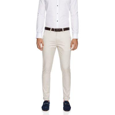 Fashion 4 Men - yd. Lonzo Skinny Chino Almond 38