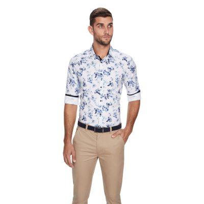 Fashion 4 Men - yd. Luford Slim Fit Shirt White L
