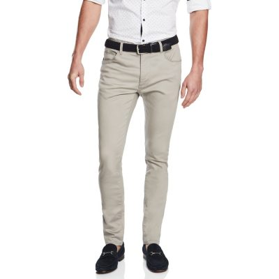 Fashion 4 Men - yd. Nicol Chino Stone 36