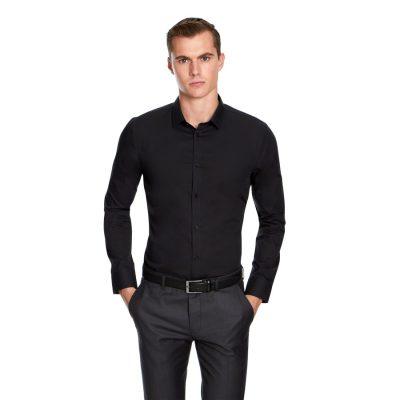 Fashion 4 Men - yd. Non Iron Dress Shirt Black S