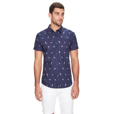 Fashion 4 Men - yd. Rancho Fun Shirt Blue Xs