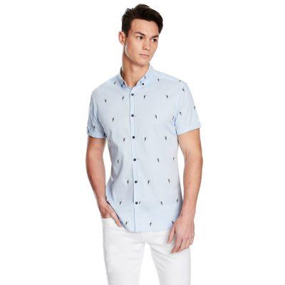 Fashion 4 Men - yd. Toucan Shirt Blue 2 Xs