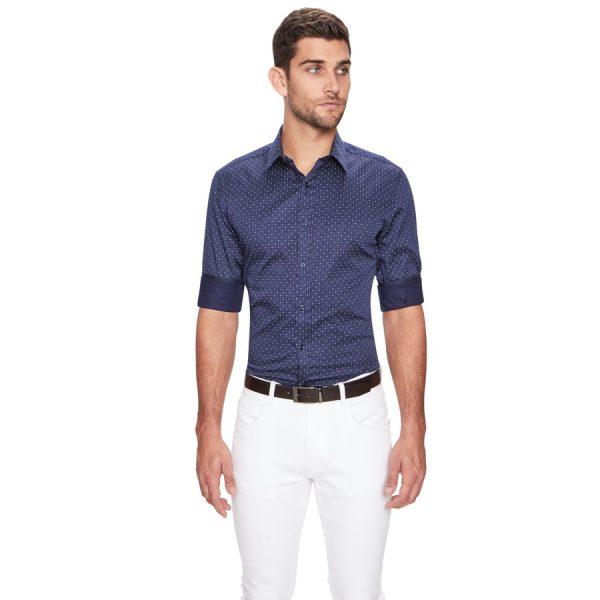 Fashion 4 Men - yd. Vita Slim Fit Shirt Navy M