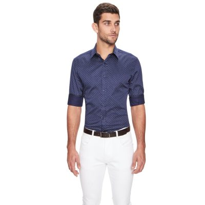Fashion 4 Men - yd. Vita Slim Fit Shirt Navy S