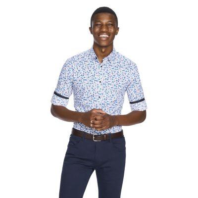 Fashion 4 Men - yd. Brado Slim Fit Shirt Teal 2 Xs
