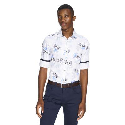 Fashion 4 Men - yd. Chance Slim Fit Shirt White S