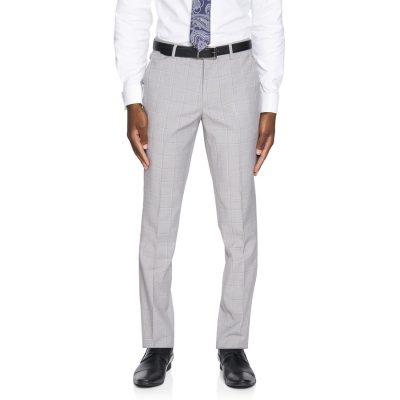Fashion 4 Men - yd. Heath Skinny Check Pant Sliver Check 34