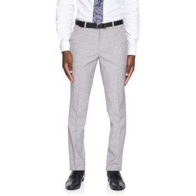 Fashion 4 Men - yd. Heath Skinny Check Pant Sliver Check 38