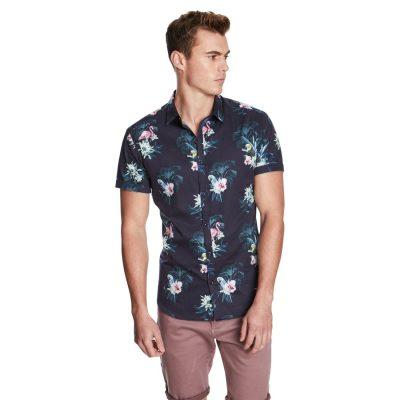 Fashion 4 Men - yd. Holiday Fun Shirt Navy S