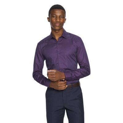 Fashion 4 Men - yd. Jay Slim Fit Dress Shirt Grape 2 Xs