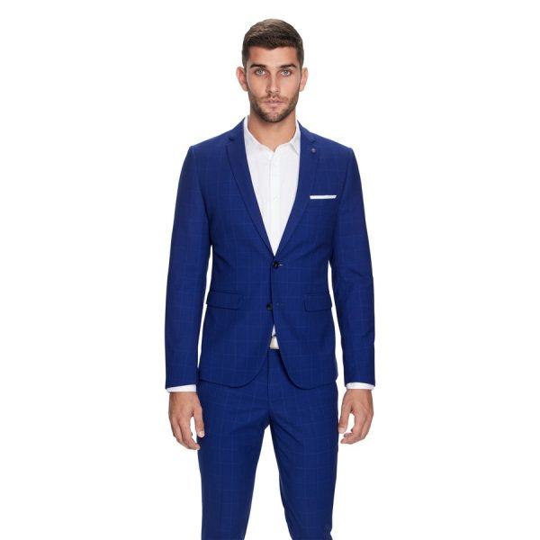 Fashion 4 Men - yd. Marshall Skinny Suit Jacket Blue 40