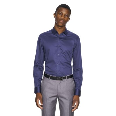 Fashion 4 Men - yd. Mission Slim Fit Dress Shirt French Blue 2 Xs