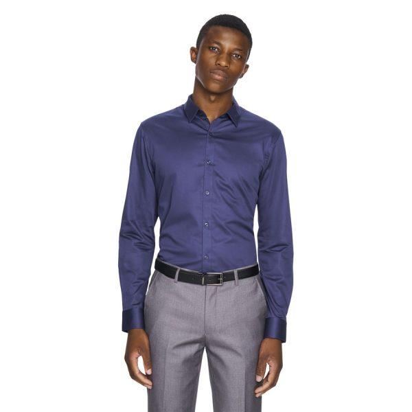 Fashion 4 Men - yd. Mission Slim Fit Dress Shirt French Blue Xxl