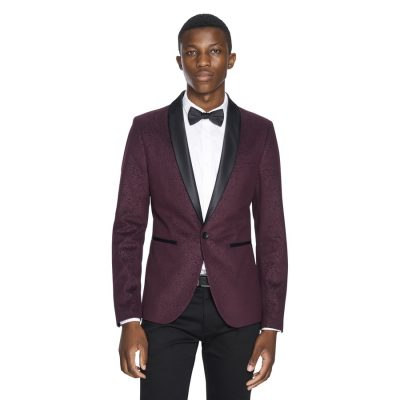 Fashion 4 Men - yd. Paisley Velvet Blazer Port Xxxl
