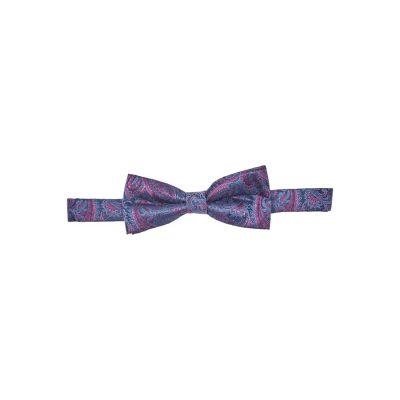 Fashion 4 Men - yd. Prince Paisley Bowtie Navy/Fuschia One