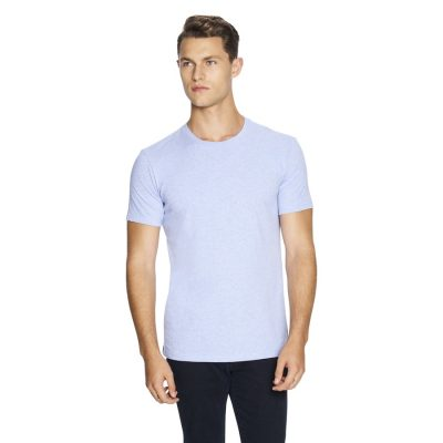 Fashion 4 Men - yd. Relaxed Basic Tee Light Blue Marle Xs