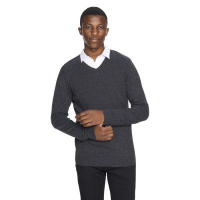 Fashion 4 Men - yd. Shay V Neck Charcoal Xl